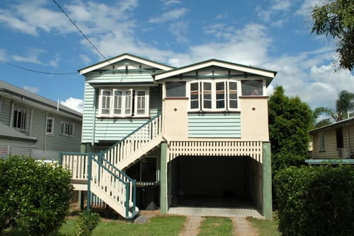 Raised Queenslander house
